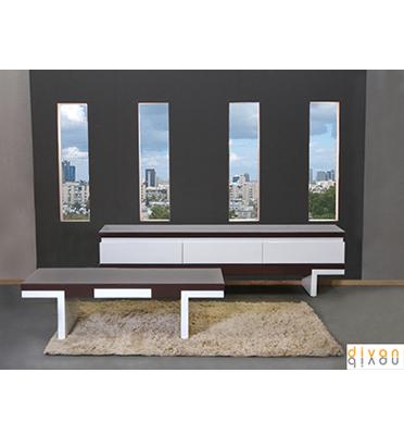 מערכת סלונית הכוללת מזנון ושולחן מבית Vitorio Divani דגם ארבלה