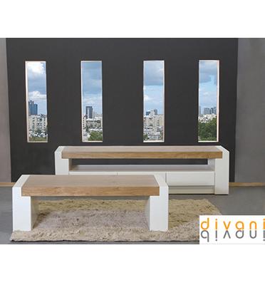 מערכת סלונית הכוללת מזנון ושולחן מבית Vitorio Divani דגם רוסו