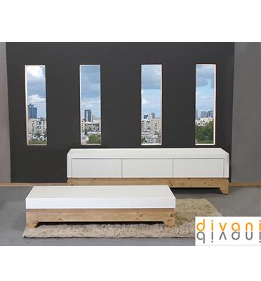 מערכת סלונית הכוללת מזנון ושולחן מבית Vitorio Divani דגם מולטו