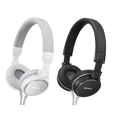 אוזניות דינמיות מרופדות תוצרת SONY דגם MDR-ZX600