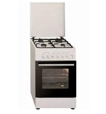 """תנור משולב כיריים 4 להבות גז ברוחב 50 ס""""מ צבע לבן תוצרת Ly Vent דגם OHS610"""