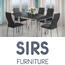 פינת אוכל נפתחת משולבת מתכת וזכוכית + 4 כסאות מרופדים בעיצוב תואם מבית SIRS דגם TB017-9