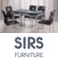 פינת אוכל נפתחת משולבת מתכת וזכוכית + 4 כסאות בעיצוב תואם מבית SIRS דגם 8-TB0017