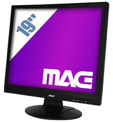 """מסך מחשב  LCD """"19 מרובע  2ms 1:50,000 תוצרת  MAG דגם H1901S"""