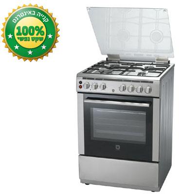 תנור אפיה משולב כיריים טורבו 4 מבערים נפח תא 56 ליטר תוצרת Bellers דגם BLV668IX