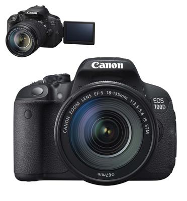 """מצלמה DSLR 18MP + עדשה 18-135IS STM מ""""מ תוצרת .CANON קרט דגם EOS 700D KIT"""