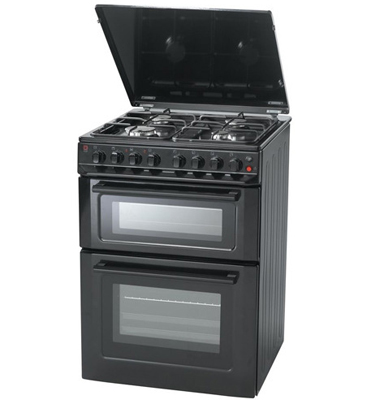 תנור אפיה משולב כיריים דו תאי תוצרת BELLERS שחור דגם DK69B