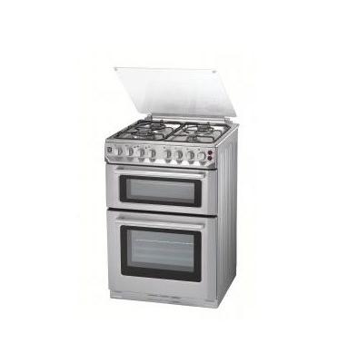תנור אפיה משולב כיריים דו תאי תוצרת BELLERS נירוסטה דגם DK69IX