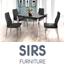 פינת אוכל נפתחת משולבת מתכת וזכוכית + 4 כסאות מעוצבים  מבית SIRS דגם TB0017-BIG