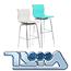 כסא בר דמוי עור תוצרת  MUZAR2000 דגם גלרי בר
