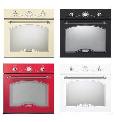 תנור בנוי בעיצוב כפרי במגוון צבעים תוצרת Delonghi איטליה דגם NDB341