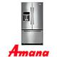 מקרר 3 דלתות כולל מתקן מים וקרח מהקולקציה החדשה תוצרת AMANA דגם 5MFI267AA
