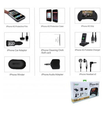 ערכת אביזרים לאייפון- 15 מוצרים מבית Ipega דגם PG-IHT03