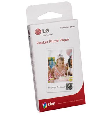 חבילת 30 דפי הדפסה ייעודיים למדפסת חכמה תוצרת LG דגם LG Pocket Photo דגם PS2203