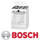 תנור משולב כיריים תוצרת בוש בגימור לבן סגירה רכה דגם HGV74W323