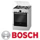 תנור אפייה משולב כיריים תוצרת בוש בגימור נירוסטה סגירה רכה דגם HGV74W353