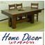 פינת אוכל שולחן ושישה כיסאות מעץ בוק תוצרת HOME DECOR דגם דולר