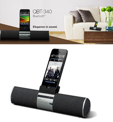 רמקול Bluetooth אלחוטי עם דיבורית  מעמד לסמארטפון וטאבלטים של pure acoustics דגם qbt340
