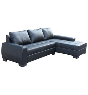 מערכת ישיבה פינתית מדמוי עור או בד מונה ליזה איכותי עם כריות גב מבית OR-Design דגם סנטה ברברה