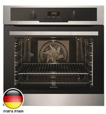 תנור אפיה בנוי 3D תא בנפח 74 ליטר סגירת דלת רכה גימור נירוסטה Electrolux דגם EOB5440AOX