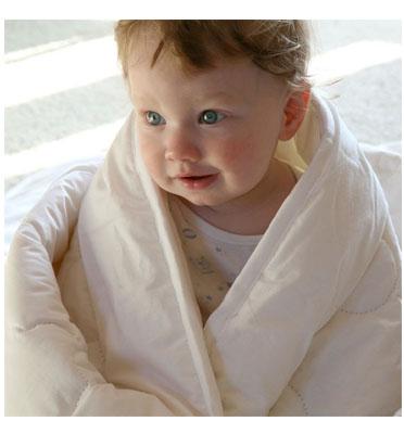 שמיכת פוך לתינוקות ולילדים היפו אלרגנית בד 100% כותנה