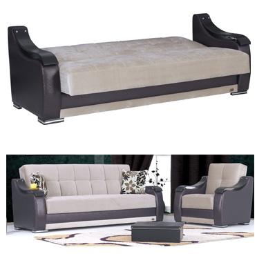 ספה תלת מושבית נפתחת למיטה מבית רהיטי דפנה דגם שושן