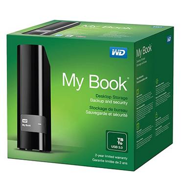 כונן My Book בנפח 4TB מבית Western Digital דגם WDBFJK0040HBK