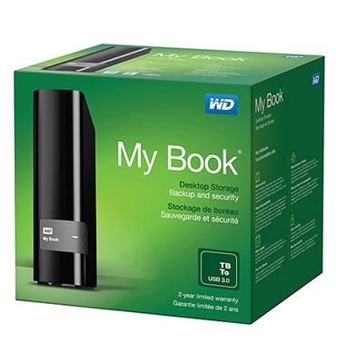 כונן My Book בנפח 2TB מבית Western Digital דגם WDBFJK0020HBK
