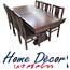 פינת אוכל נפתחת הכוללת שולחן מפואר + 6 כסאות HOME DECOR דגם גבעון