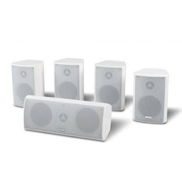 סט 5 רמקולים סטליטיים לקולנוע ביתי דגם PURE-510 צבע לבן מבית pure acoustics