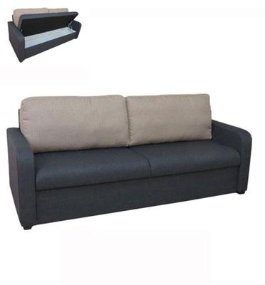 ספה תלת מושבית מבד מטריקס הכוללת ארגז מצעים מבית Or-Design דגם איריס