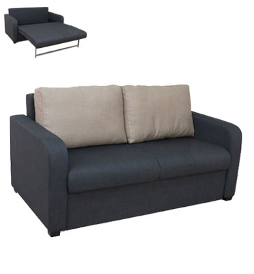 ספת ארוח קומפקטית דו מושבית נפתחת למיטה זוגית מרופדת בבד מטריקס דגם אירוס