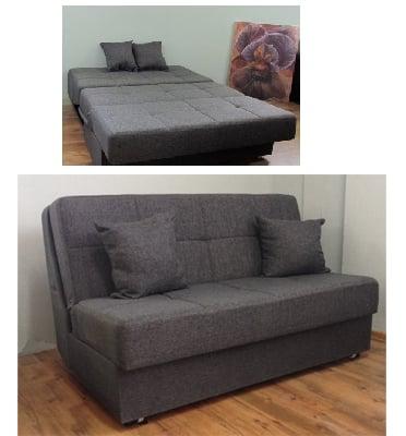 ספה נפתחת למיטה זוגית מבית רהיטי דפנה דגם וגאס