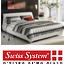 מיטה מעוצבת מרופדת עור רב-אזורי  מזרני ויסקו אלסטי  מבית Swiss System דגם Donna