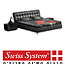 מיטה מעוצבת מרופדת עור רב-אזורי מזרני ויסקו אלסטי מבית Swiss System דגם  Russian