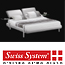 מיטה מעוצבת מרופדת עור  בעלת תמיכה כפולה לגב תחתון מבית Swiss System דגם Norway