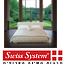מיטה מעוצבת מרופדת עור  בעלת  תמיכה כפולה לגב תחתון מבית Swiss System דגם  Waltz