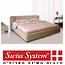 מיטה מעוצבת מרופדת עור משולב מבית Swiss System דגם לדינו