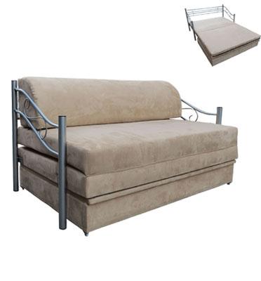 ספת אירוח דו מושבית נפתחת למיטה זוגית נוחה כוללת ארגז מצעים מבית OR DESIGN דגם צופית
