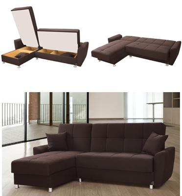 ספה פינתית נפתחת למיטה מבית רהיטי דפנה דגם כלנית