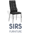 זוג כסאות אוכל בדוגמת ריבועים בריפוד דמוי עור איכותי עם רגלי ניקל מבית SIRS דגם F68-A