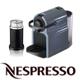 מכונת קפה INISSIA Bundle עם מקצף חלב בצד צבע תכלת תוצרת Nespresso דגם אירוצ'ינו+C40