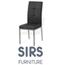 זוג כסא אוכל אלגנטי עם דוגמת ריבועים, מרופד בדמוי עור איכותי עם רגלי ניקל מבית SIRS דגם F2