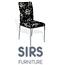 כיסא אוכל מרופד בד איכותי ודוחה כתמים, רגליים מפלדה מצופות ניקל  מבית SIRS דגם F263