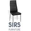 זוג כסאות אוכל בריפוד דמוי עור איכותי מבית SIRS דגם F261-3