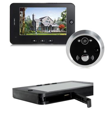 """עינית דיגיטלית 4.3"""" צילום וידאו,תמונות,חיישן תנועה ותפריט בעברית במסך IPS דגם HD43M מבית MATRIX"""