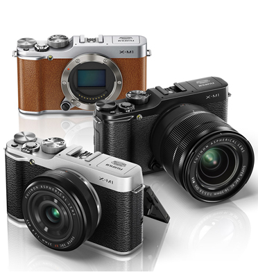 """מצלמה דיגיטלית מסך 3"""" 16MP עדשה mm16-50 תוצרת FUJIFILM דגם X-M1"""