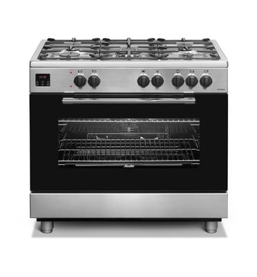 """תנור אפייה משולב כיריים ברוחב 90 ס""""מ במגוון צבעים תוצרת SAUTER. דגם TS9140"""