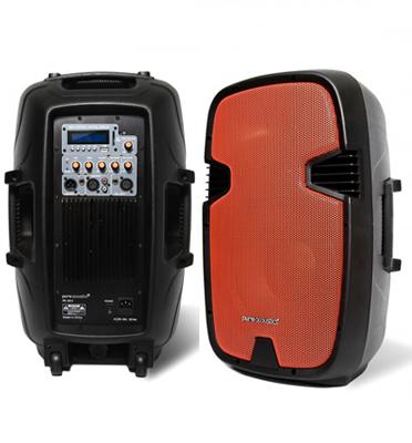 """בידורית לקריוקי ואירועים 12"""" 350 וואט ושלט דגם PR-1812 תוצרת pure acoustics  -מוחדש"""