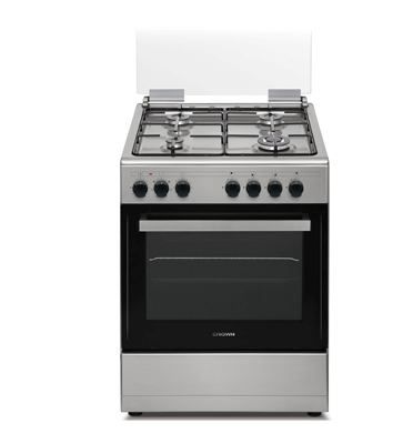 """תנור אפיה משולב כיריים עם להבת ווק ברוחב 60 ס""""מ תוצרת CROWN. דגם CR605SM"""